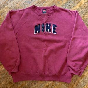 VTG Nike Spellout Felt Crewneck Sweatshirt Size M